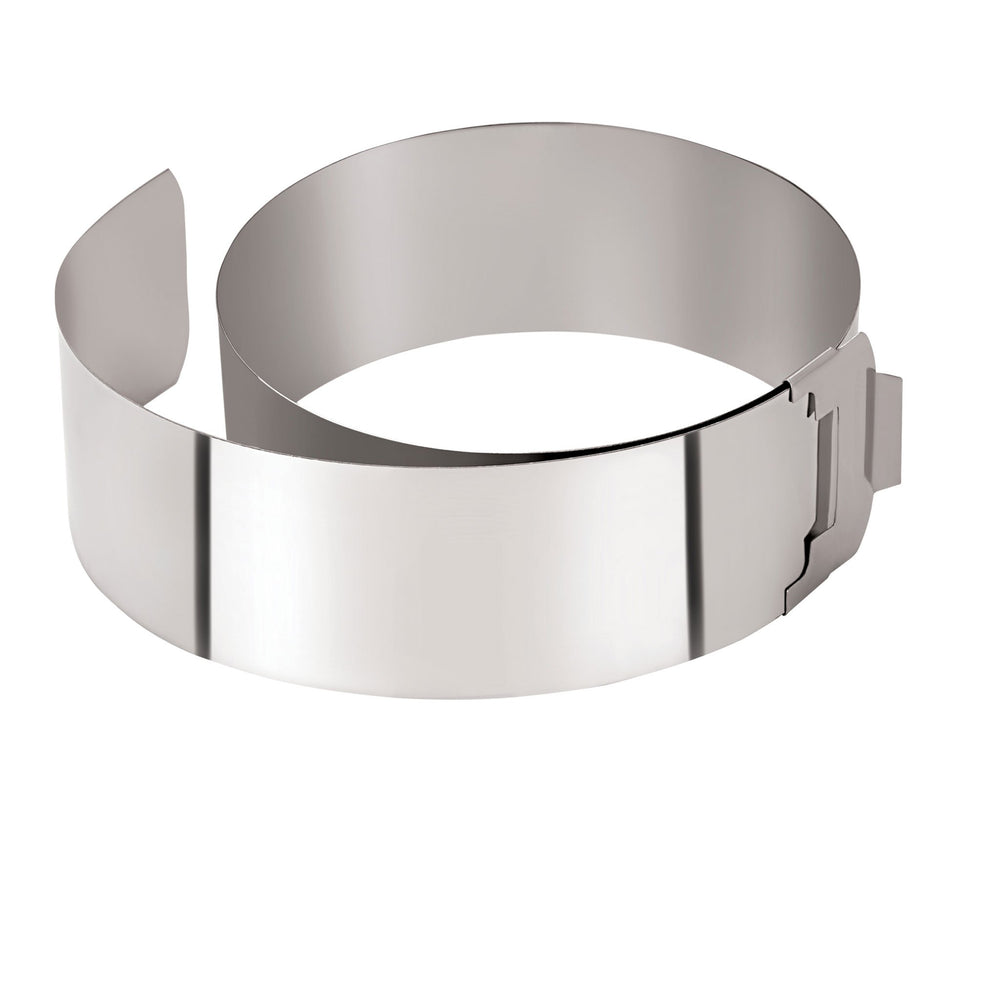 Adjustable Cake Ring With Clip (Minimum 150 mm / Maximum 300 mm)
