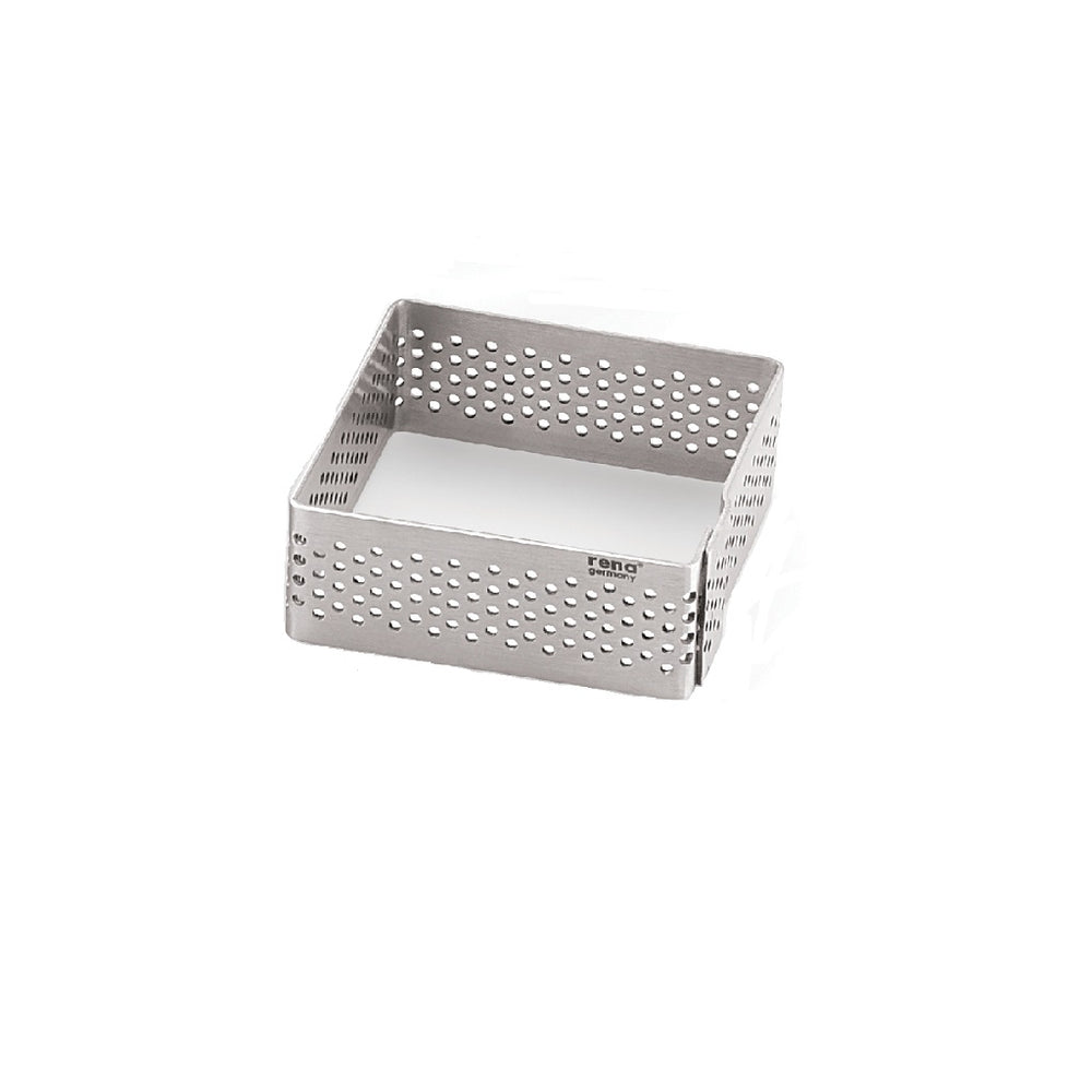 Perforated Square Tart Ring – 3 pc set (H-35mm)