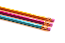 Happy Days Pencil Set- 3 x Gold Foil Bridechilla Pencils