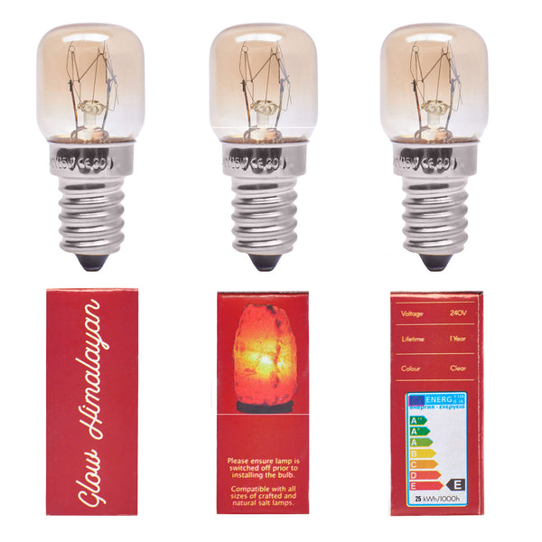 Glow Himalayan 3 Pack 25W Incandescent Replacement Bulb
