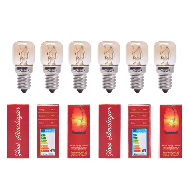 Glow Himalayan 6 Pack 25W Incandescent Replacement Bulb