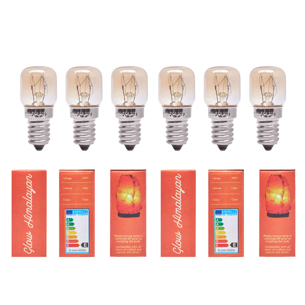 Glow Himalayan 6 Pack 15W Incandescent Replacement Bulb