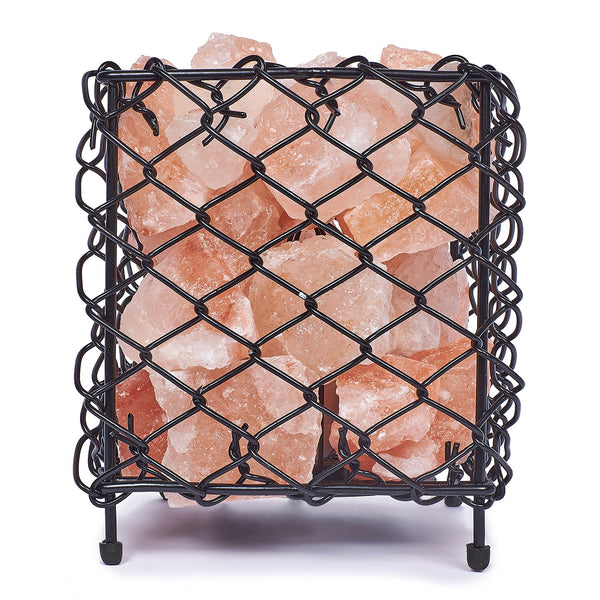 Glow Himalayan Iron Square Basket Salt Lamp