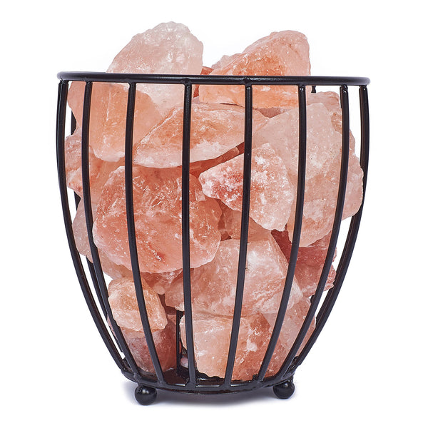 Glow Himalayan Iron Vase Basket 1 Salt Lamp