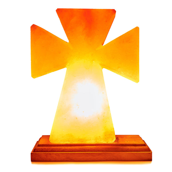 Glow Himalayan Cross Shape Salt Lamp