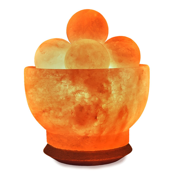 Glow Himalayan Fire Bowl (Balls) Crafted Salt Lamp