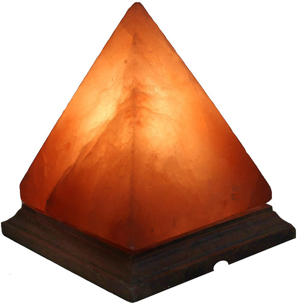 Glow Himalayan Pyramid Crafted Salt Lamp