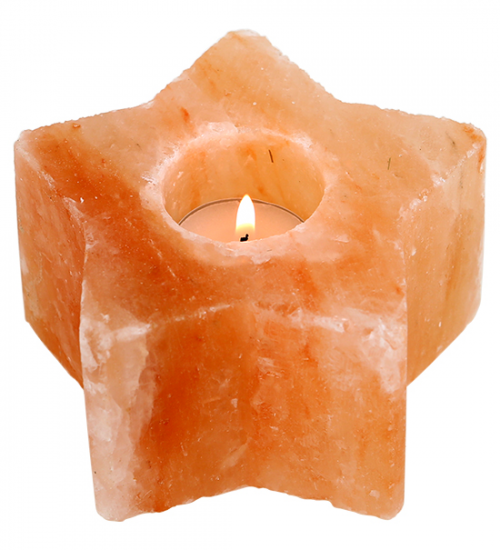 Glow Himalayan Salt Star Candle Tea Light Holder
