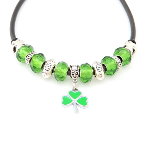 Irish Green Colours Rugby Necklace