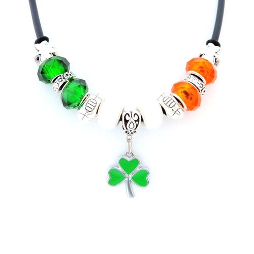 Irish Flag Colours Rugby Necklace