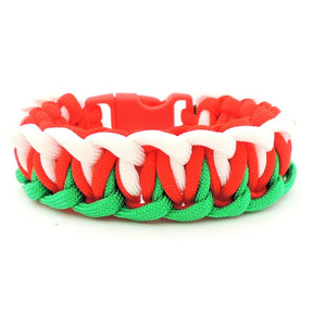 Welsh Flag Colours Paracord Bracelet