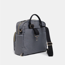 A-La-Playdate Black And White Stripes Diaper Bag Backpack By CHIC-A-BOO