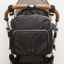 Load image into Gallery viewer, A-La-Playdate Black Diaper Bag Backpack By CHIC-A-BOO