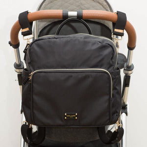 A-La-Playdate Black Diaper Bag Backpack By CHIC-A-BOO