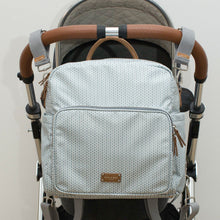 A-La-Playdate Grey And White Print Diaper Bag Backpack By CHIC-A-BOO