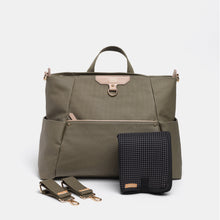 Load image into Gallery viewer, Ready-Set Tote Olive Green Diaper Bag Backpack By CHIC-A-BOO