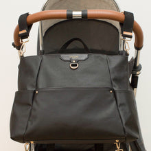 Load image into Gallery viewer, Ready-Set Tote Black Diaper Bag Backpack By CHIC-A-BOO