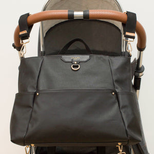 Ready-Set Tote Black Diaper Bag Backpack By CHIC-A-BOO