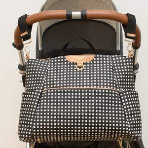Ready-Set Tote Diaper Bag Backpack Black And White Print By CHIC-A-BOO