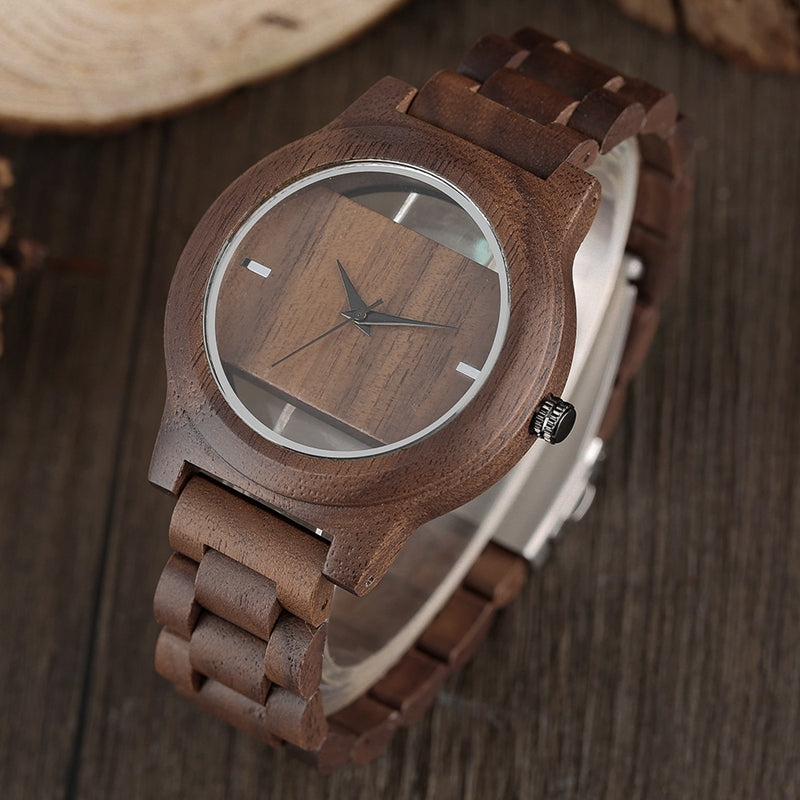 triangle wood watch men clock watches inverted fashion creative business luxury handmade nature bamboo dial wooden