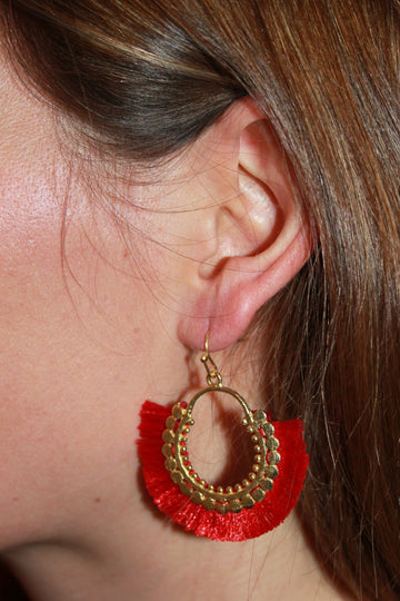 Small tassel earrings - LIMITED STOCK LEFT- NOW £8