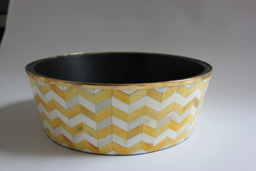 Yellow and White Planter