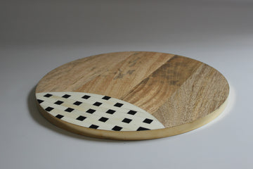 Bone Inlay and Mango Wood Cheese Board