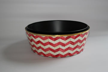 Red and White Large Planter