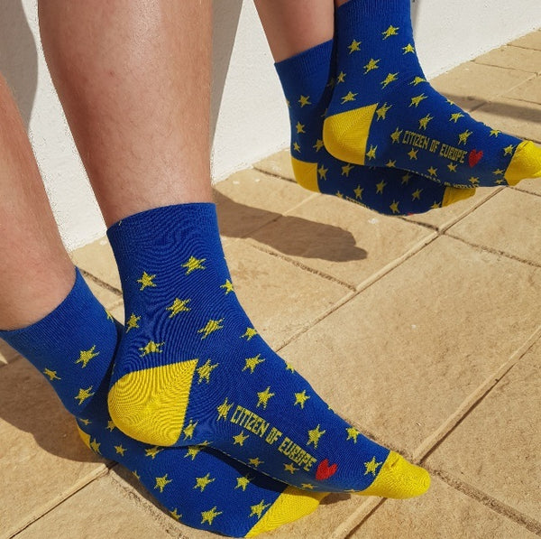 EU Superstars flag Shorty Sporty Socks - One size fits all 37 - 46