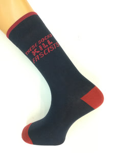 'These Socks Kill Fascists' (Woodie Guthrie Guitar logo) Supersoft Cotton Socks - Mens NOW REDUCED LAST ONES