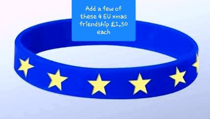 EU Flag friendship bracelet wristie