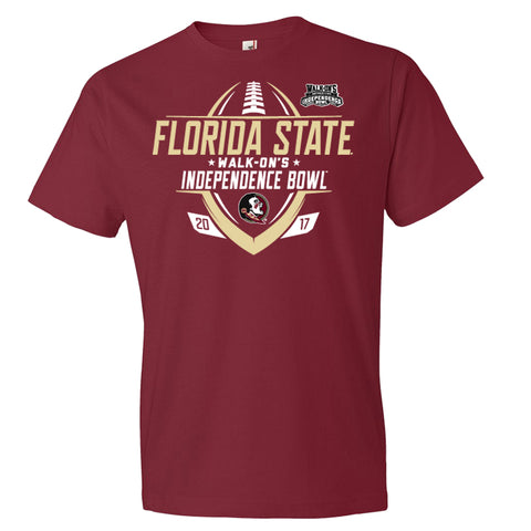 2017 Independence Bowl Florida State Men's Cotton Short Sleeve Tee