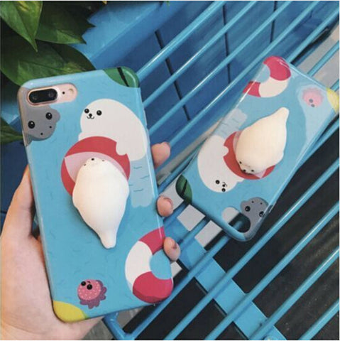 3D Cute Cartoon Silicon Ultra Hard Phone Case For iPhone