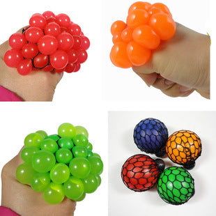 Anti-stress Face Reliever Grape Ball Funny Toy
