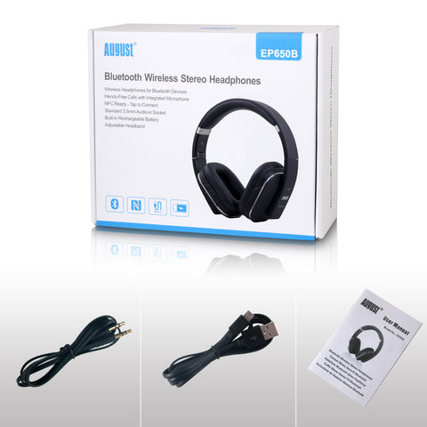 Bluetooth Wireless Headphones with Mic/Multipoint/NFC Over Ear