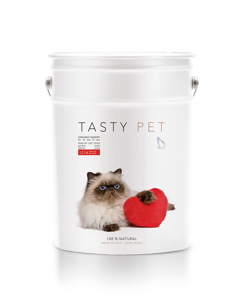 1214 | ALIMENTO COMPLETO PER TUTTI I TIPI DI GATTO - FOR YOU MY LOVE - tasty.pet