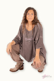 INA oversize top Taupe