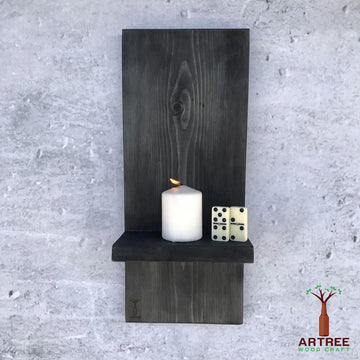 Decoration Items - Candle Holder Black Stain