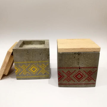 Decoration Items - Concrete Scented Candle