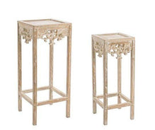 Decoration Items - Set 2 Vintage Pedestals Charlotte