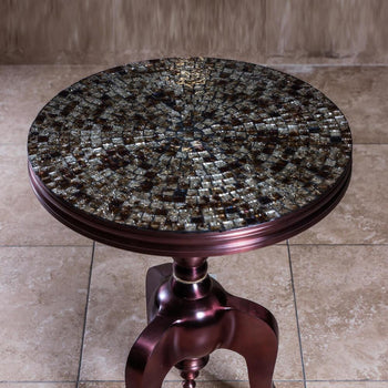 Furniture - Aluminum Table With Mosaic Top