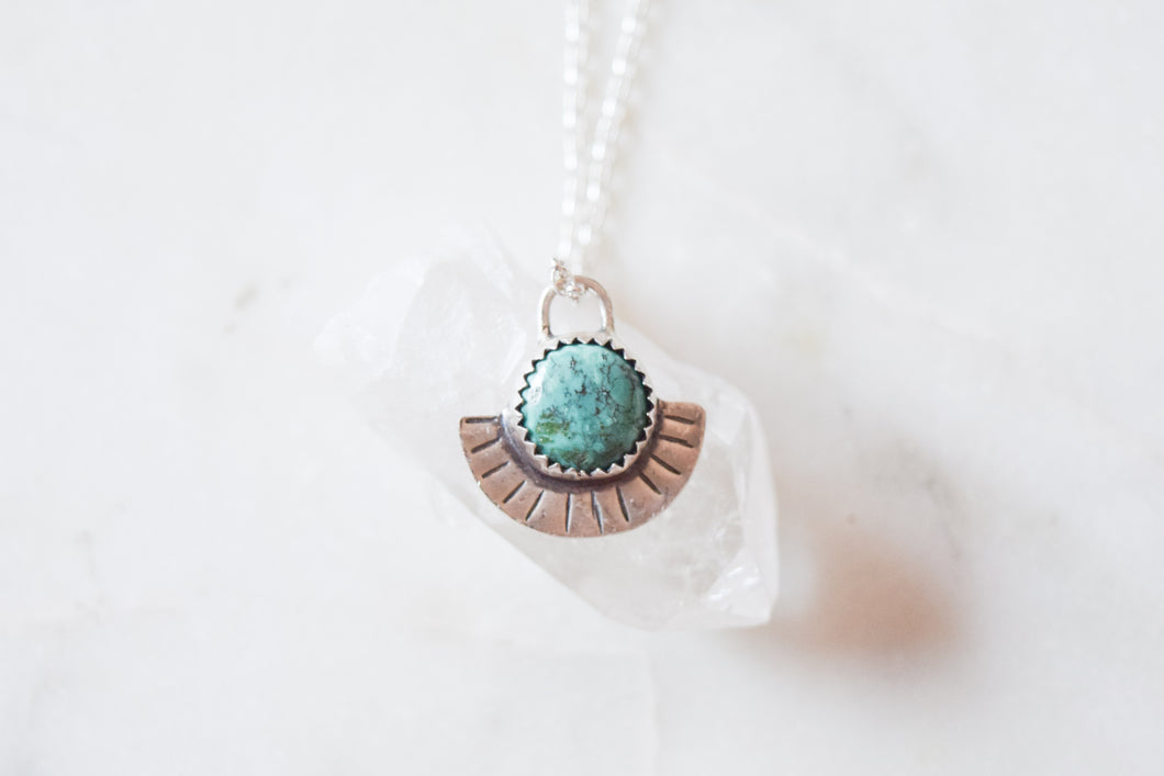 Sundial Turquoise Necklace