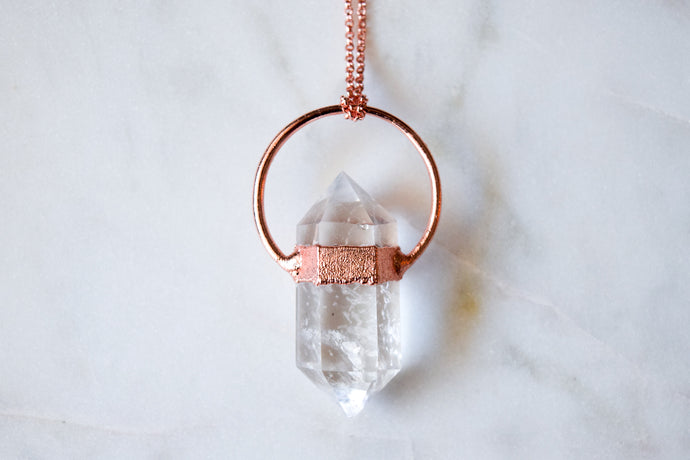 Double Terminated Quartz Necklace