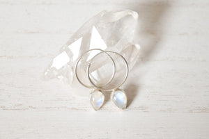 Teardrop Moonstone Earrings