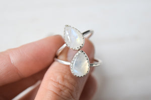 Detailed Moonstone Ring