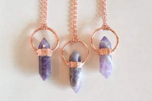 Third Eye Amethyst Pendants