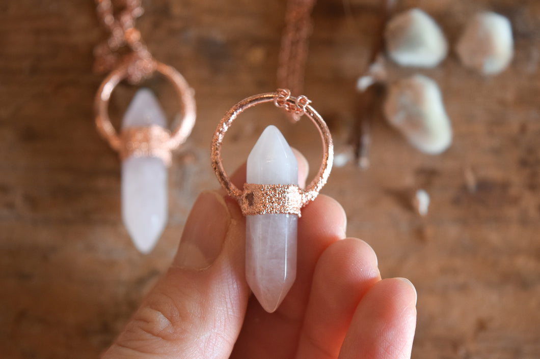 Heart Chakra Rose Quartz Pendants