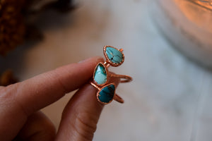 Turquoise Tear Drop Ring