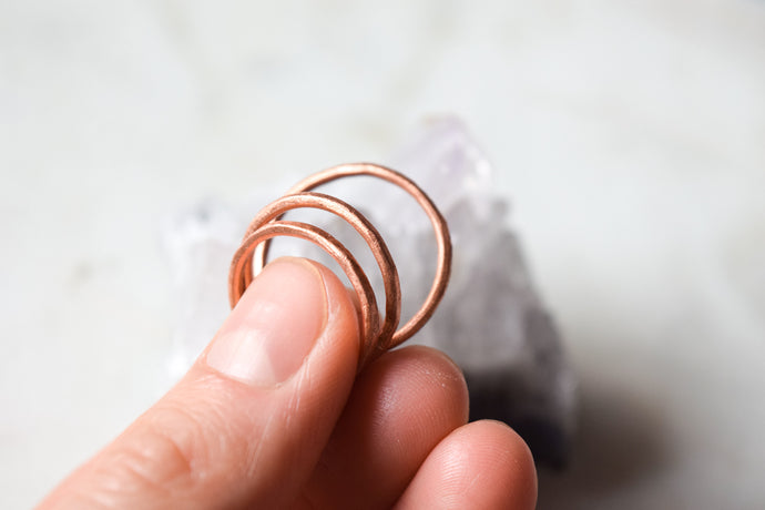 Copper Stacking Rings