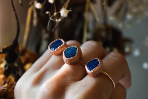 Lapis Stone Copper Ring